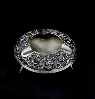 Antique Old Siam  Sterling Silver  Ashtray 77 Gramm