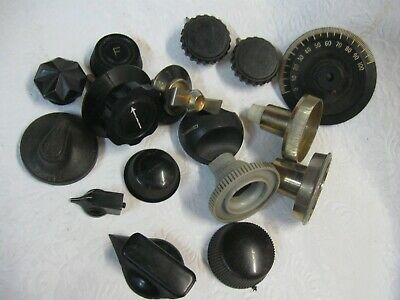 Radio Knobs ,Radio TV and Appliance knobs old and Period.Assorted Job Lot