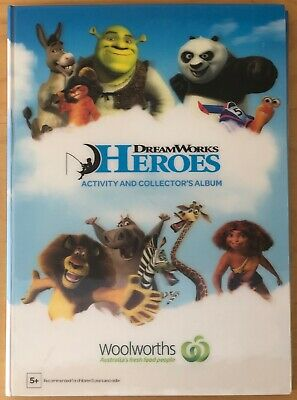 Collector's Album with Woolworths Dreamworks Heroes - Full Set of 42 Cards