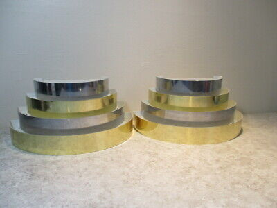 Vtg Mid Century Modern 70s Baughman Era Feldman CO. Wall Sconces Light Fixtures