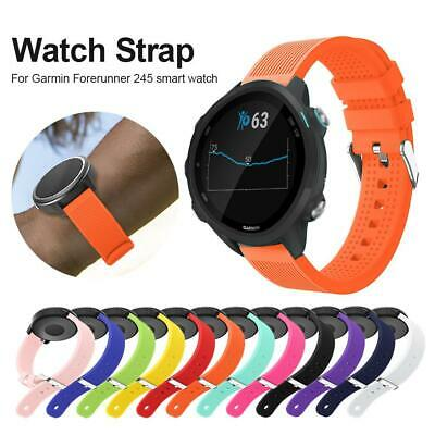 For Garmin Forerunner245 Smart Watch Silicone Replacement Band Watch Strap