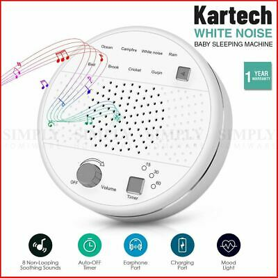 Kartech White Noise Sleep Machine Baby Sound Generator Therapy Relax Nature Aid