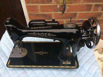 Vintage 201K Singer Trombone Autocollants Semi-Industrial Machine