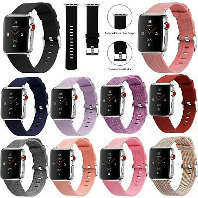 Sports Canvas Nylon Fabric Wristwatch Band Strap for Apple Watch iWatch 1 2 3 4