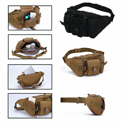 CA Army Tactical Waist Pack Pouch Military Camping Hiking Outdoor Fanny Belt Bag