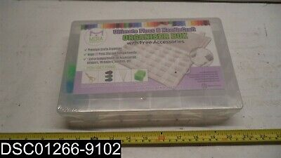 Ultimate Floss and Needle Threader Organizer Embroidery Thread Box-Arts Crafts
