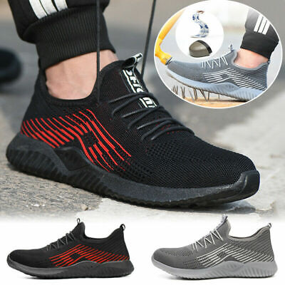 e1f35310d11 NEW MENS ULTRA Lightweight Steel Toe Cap Safety Work Trainers Shoes ...