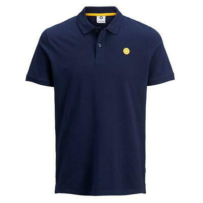 Jack & Jones Cre Andres Polo Tshirt Tee Mens Logo Sky Navy UK Size L *REF82