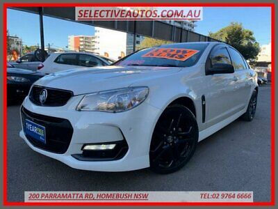 2016 Holden Commodore Vfii MY16 SV6 Black Edition White Automatic 6sp A Sedan