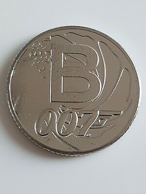 2018 : UNCIRCULATED A-Z Alphabet 10p Coin   B for Bond