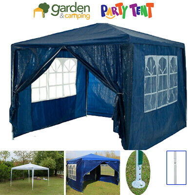3 x 3m Waterproof  PE Garden Gazebo Marquee Canopy Party Tent Outdoor BBQ Patio