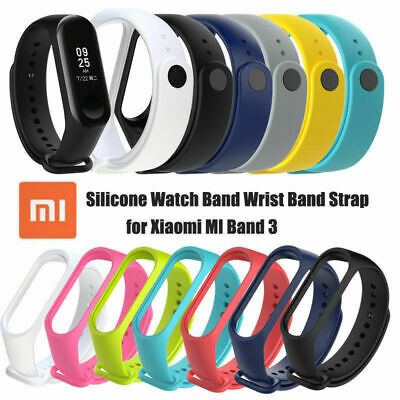 For Xiaomi MI Band 3 Wrist Band Strap Replacement Bracelet Watch Silicone Sy
