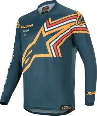 2020 Alpinestars Racer BRAAP Navy Orange Motocross MX Race Jersey Adult