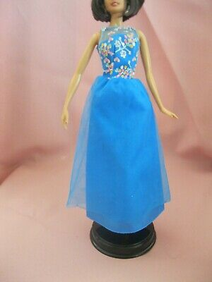 Barbie Clothes Dress Gown - Blue Pretty Bodice  (Doll Not Included)