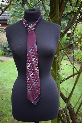 TOOTAL Tie Vintage Made in England Burgundy Mens Accessories Shirt & Tie