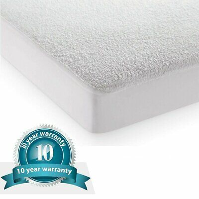 Waterproof Mattress Cover Terry King Queen Twin Hypoallergenic Bed Pad Protector