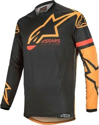 2020 Alpinestars RACER TECH Black Orange Motocross MX Race Jersey Adult