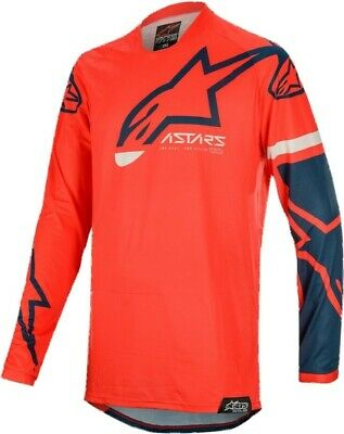 2020 Alpinestars RACER TECH Bright Red Navy Motocross MX Race Jersey Adult