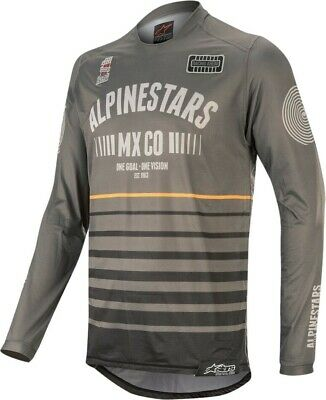 2020 Alpinestars RACER TECH Flagship Grey Black Orange Motocross MX Jersey Adult