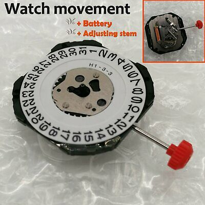 Miyota 2315 Quartz Watch Movement Date at 3' +Stem&Battery Repair Replace Parts