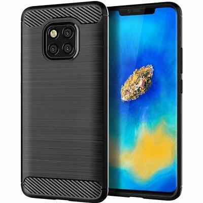 For Huawei Mate 20 Pro Carbon Gel Case Glass Screen Protector & Stylus Pen