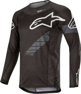 2020 Alpinestars Techstar Graphite Black Grey Motocross MX Race Jersey Adult