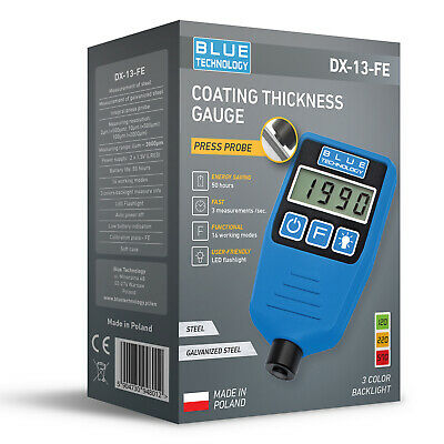 Paint coating thickness gauge DX-13-FE Fe/Zn/Al 2019
