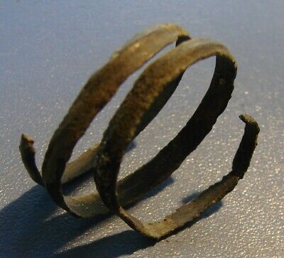 Ancient twisted ring. Scythians. 7 - 2 nd century BC bronze. RARE. ORIGINAL