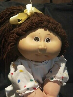 Vintage cabbage patch doll OK factroy brown hair head mould 1