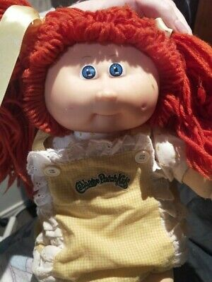Vintage cabbage patch head mould 9 red double pony tail original clothes