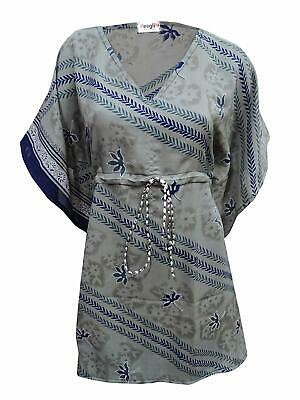 Women's Kaftan Printed Beach V Neck Kimono Summer Night Dress Caftan KFT156