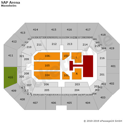 2 x The Kelly Family Mannheim Tickets 23.11. Block 410