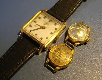 WATCHES VINTAGE. PRODUCTION OF THE USSR. 1960 - 1970. GILDING Au - 10. ORIGINAL.
