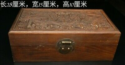 Chinese old antique Qing jade Bracelet A PAIR Pendant with dragon wood box