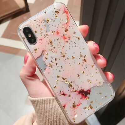 For Apple iPhone XS Max XR 8 7 6 Plus Case Shockproof Tough Marble Soft Cover