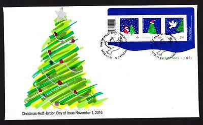 Canada limited edition FDC 2016 sc#2954 Christmas s/s, official cancel
