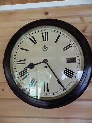 """RAF 14"""" Dial Clock Signed By Elliott 1941 In Totally Original Condition + Dust"""