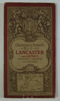 1913 Old OS Ordnance Survey One-Inch Third Edition Map 24 Lancaster & Fleetwood