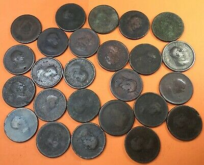 Job Lot X25 Antique George III Low Grade Large Penny Coins #JF14