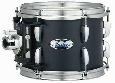 """Pearl Masters Complete MCT 8"""" Dia. X 7"""" Mounted Tom/#124/Matte Black Mist/New"""