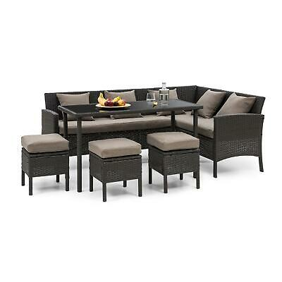 B Stock Garden Dining Lounge Set Couch Table 4 Stool