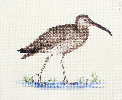 CURLEW, wading, water Bird Full counted cross stitch kit *all materials included