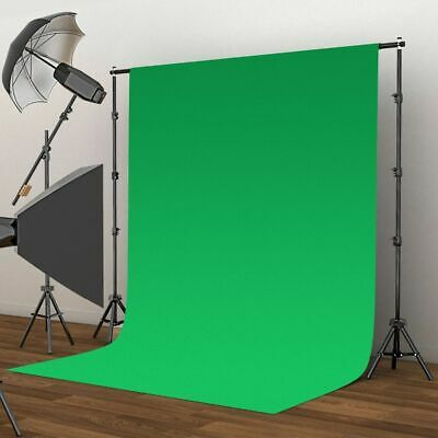 Photo Background 2x3m Solid Green Screen Studio Photography Backdrop Prop Stand
