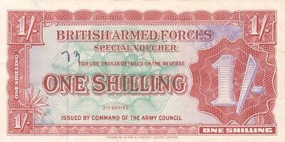 #British Armed Forces 1 Shilling 1948 M-18 VF British Troops in Germany