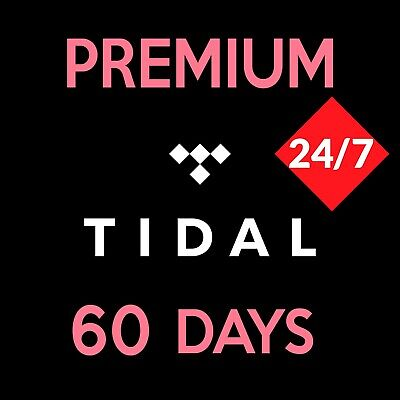 Tidal Premium (60 days 2 months) not shared, 1 MINUTE DELIVERY