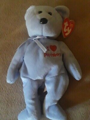 Ty Beanie Baby  NEW YORK the Bear MWMT 8.5 Inch I Love NY Gift Show Exclusive