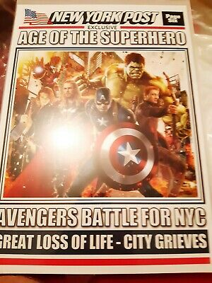 Avengers Newspaper Front Page Collectable