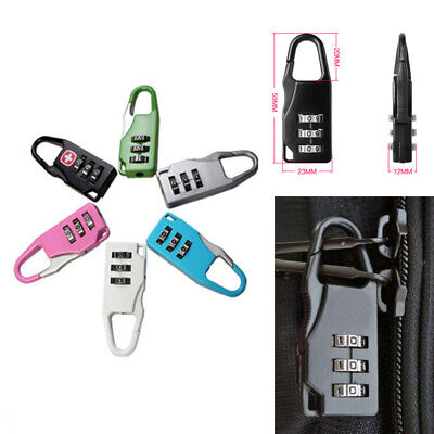 3 Digit Mini Security Code Lock Password Combination Travel Luggage Lock Padlock