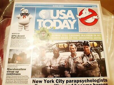 Ghostbusters Newspaper Front Page Collectable