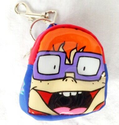Rare Vintage 1990s Nickelodeon Rugrats Chuckie Kitsch Novelty Backpack Purse NEW